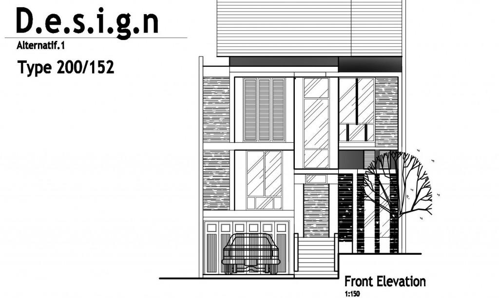 Rumah tinggal minimalis tipe LAWANG