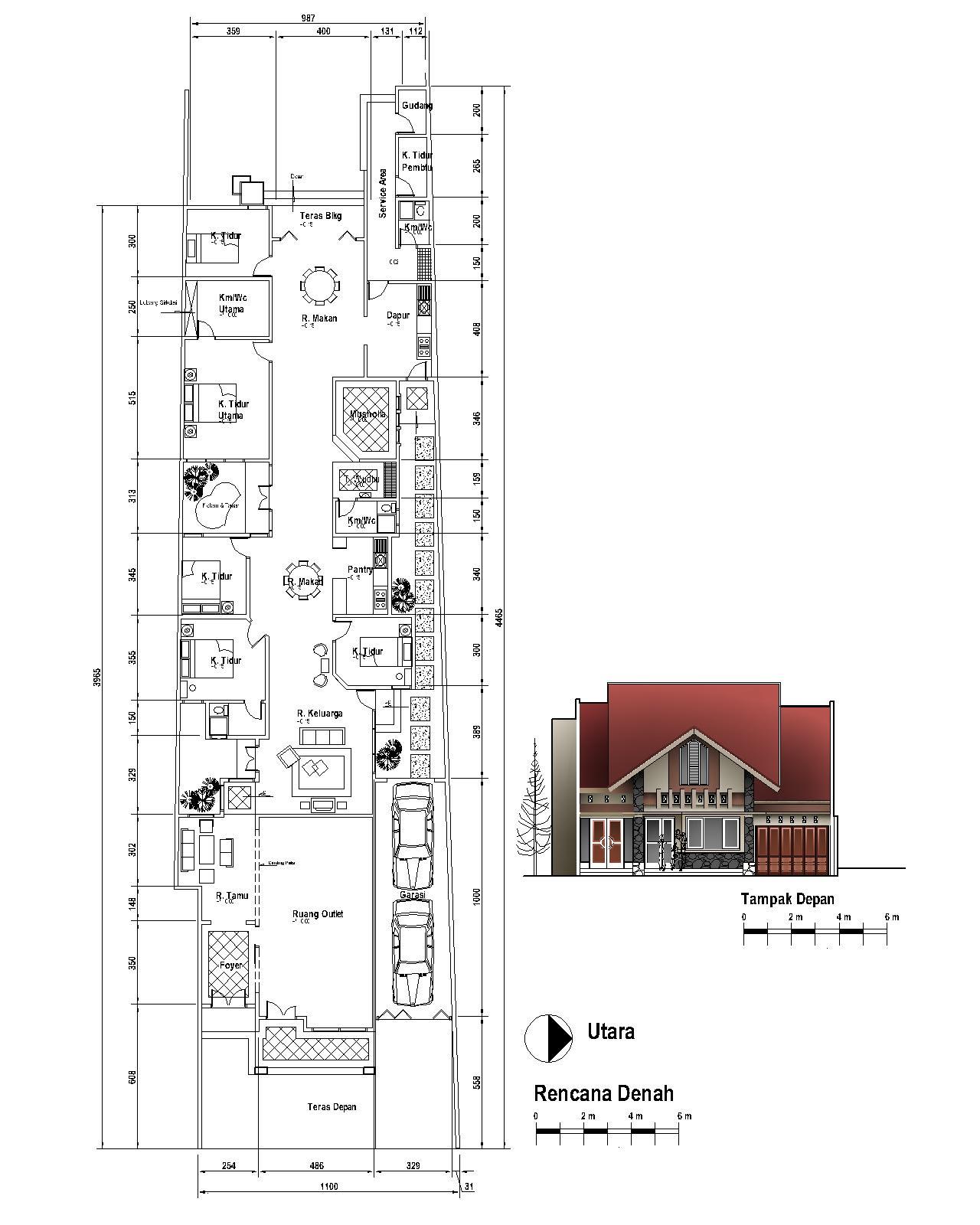 Download Desain Rumah di lahan memanjang