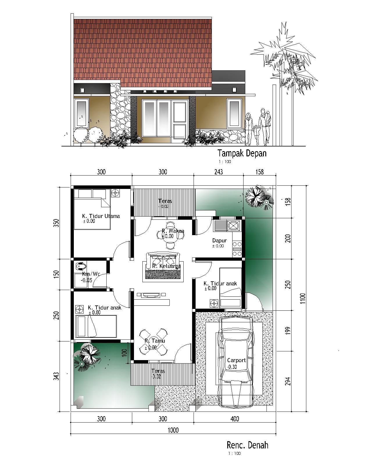 Desain Rumah Minimalis 3 Kamar Blog Rumah Minimalisku