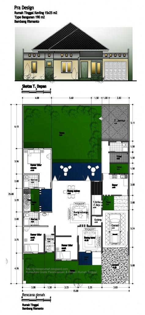 Tampak&Denah Rumah Bambang Rismanto