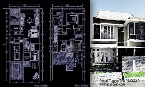 Rumah tinggal minimalis tipe SINGOSARI