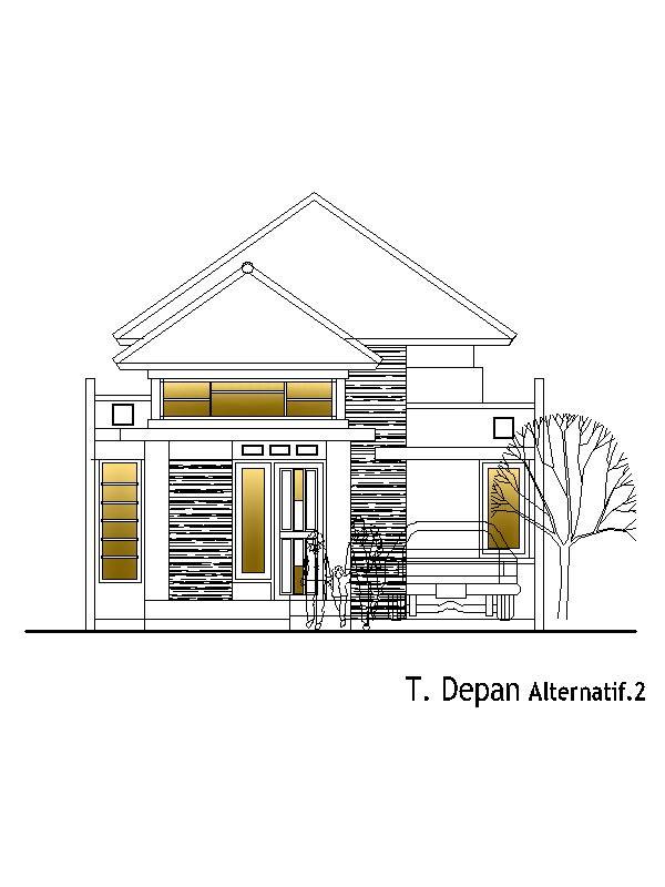 Desain Rumah Kavling 7,5x28 m2