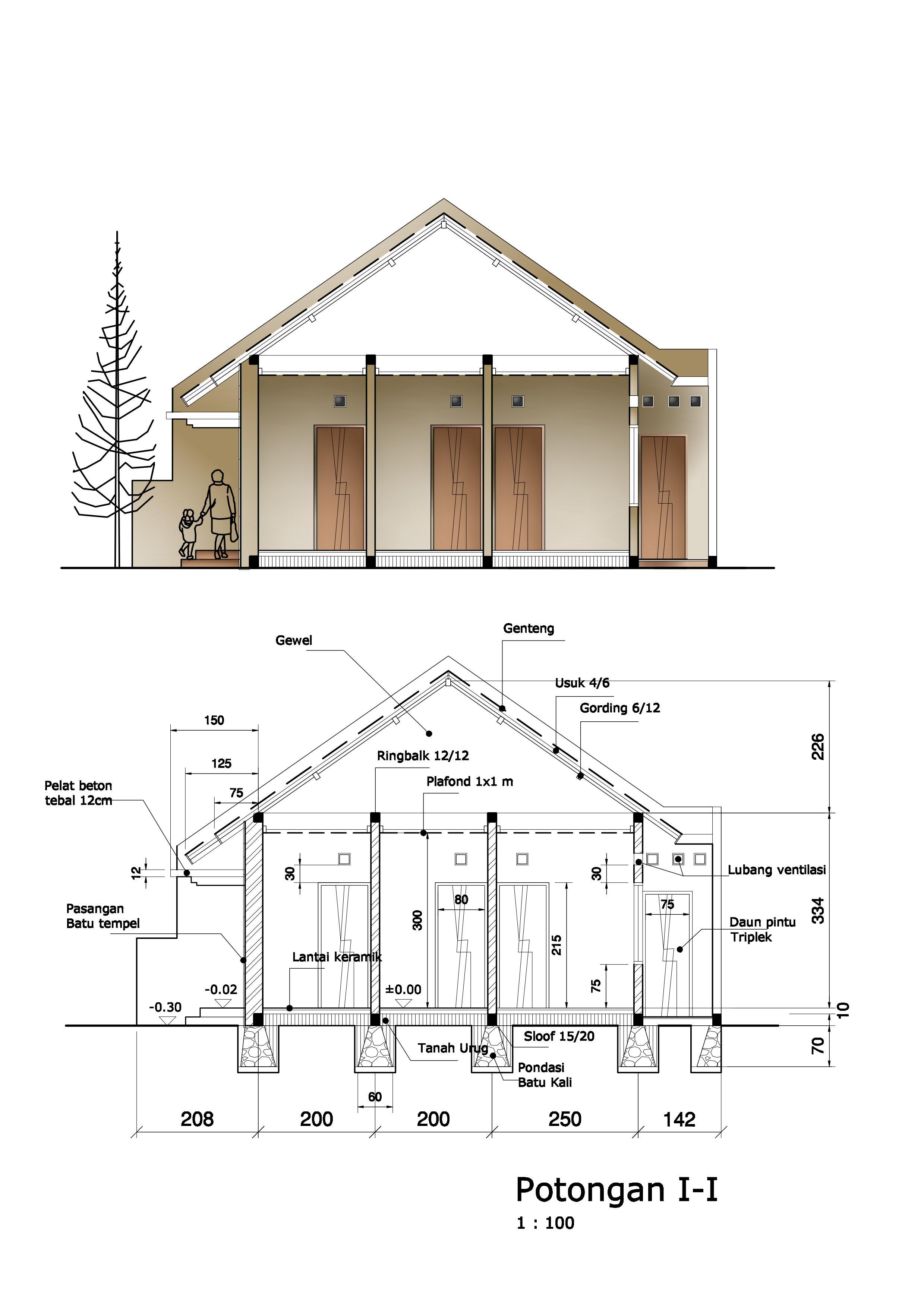 arti sebuah gambar potongan bangunan gambar potongan rumah
