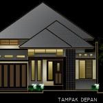 Desain rumah berkamar banyak di lahan 10x26m2
