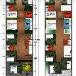 Rencana Denah Rumah Kost Tipe DADAPREJO