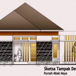 Sketsa Tampak Depan Rumah Mbak Maya