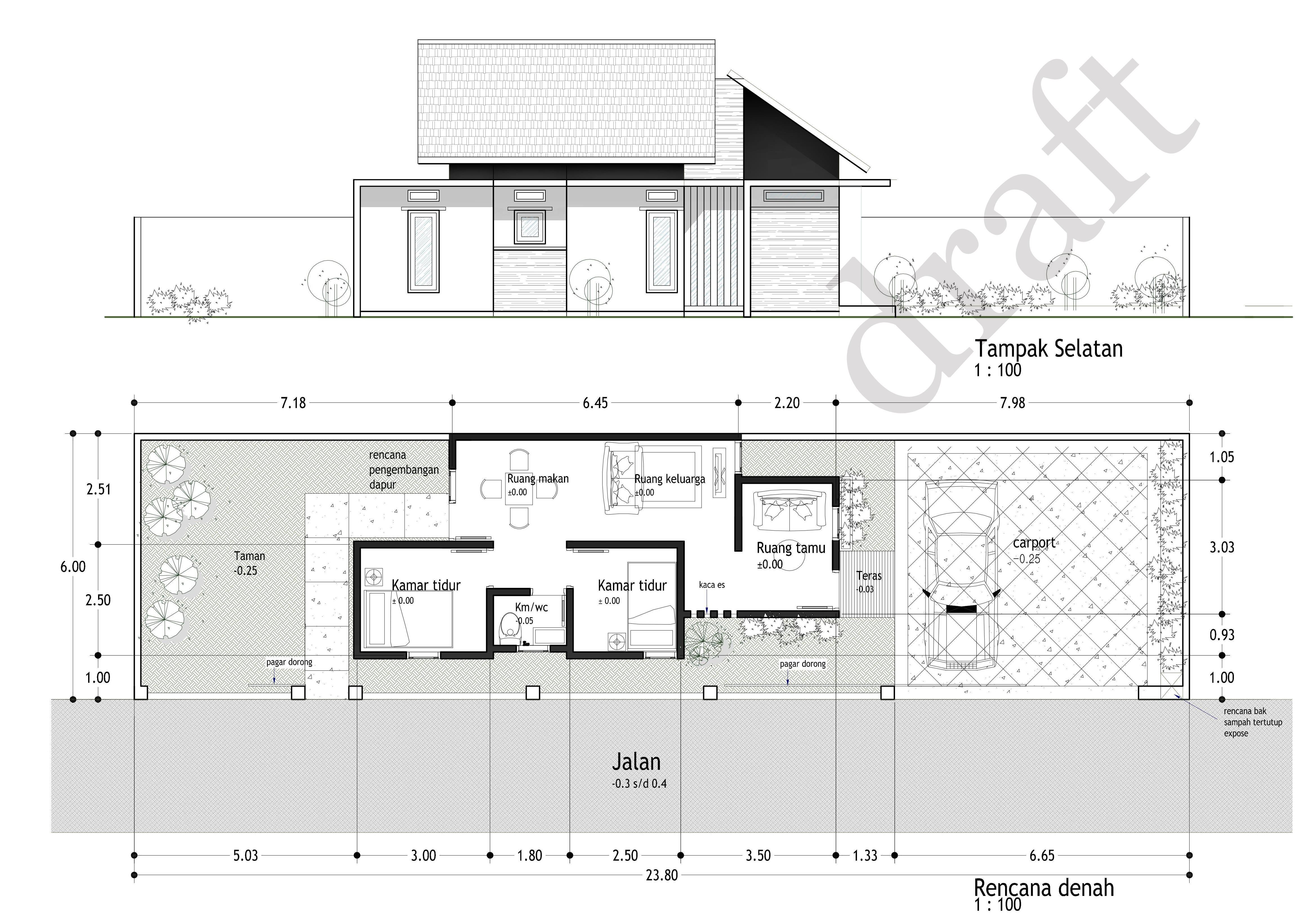 Desain Rumah Sketchup Melebar