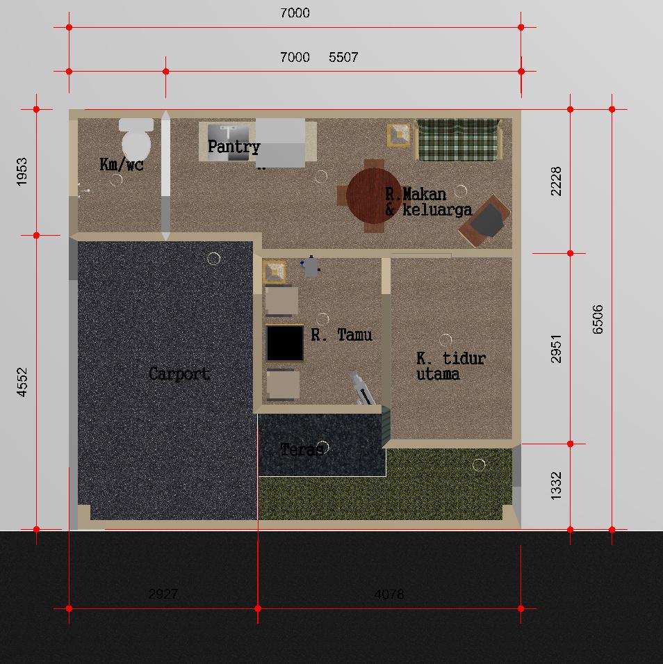 Sketsa denah rumah