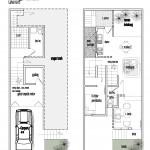 Denah lantai semi basement dan lantai 01
