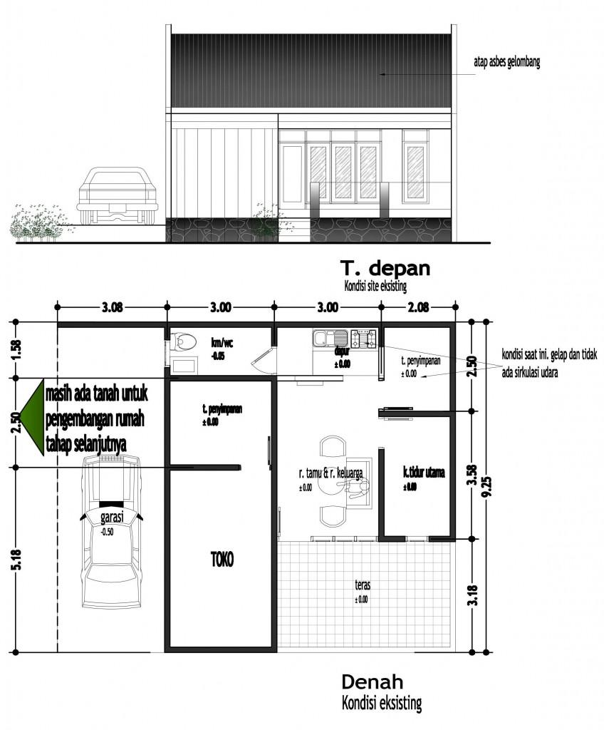 rumah tinggal tipe IKHLAS_eksisting