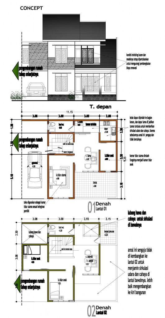 rumah tinggal tipe IKHLAS_pengembangan