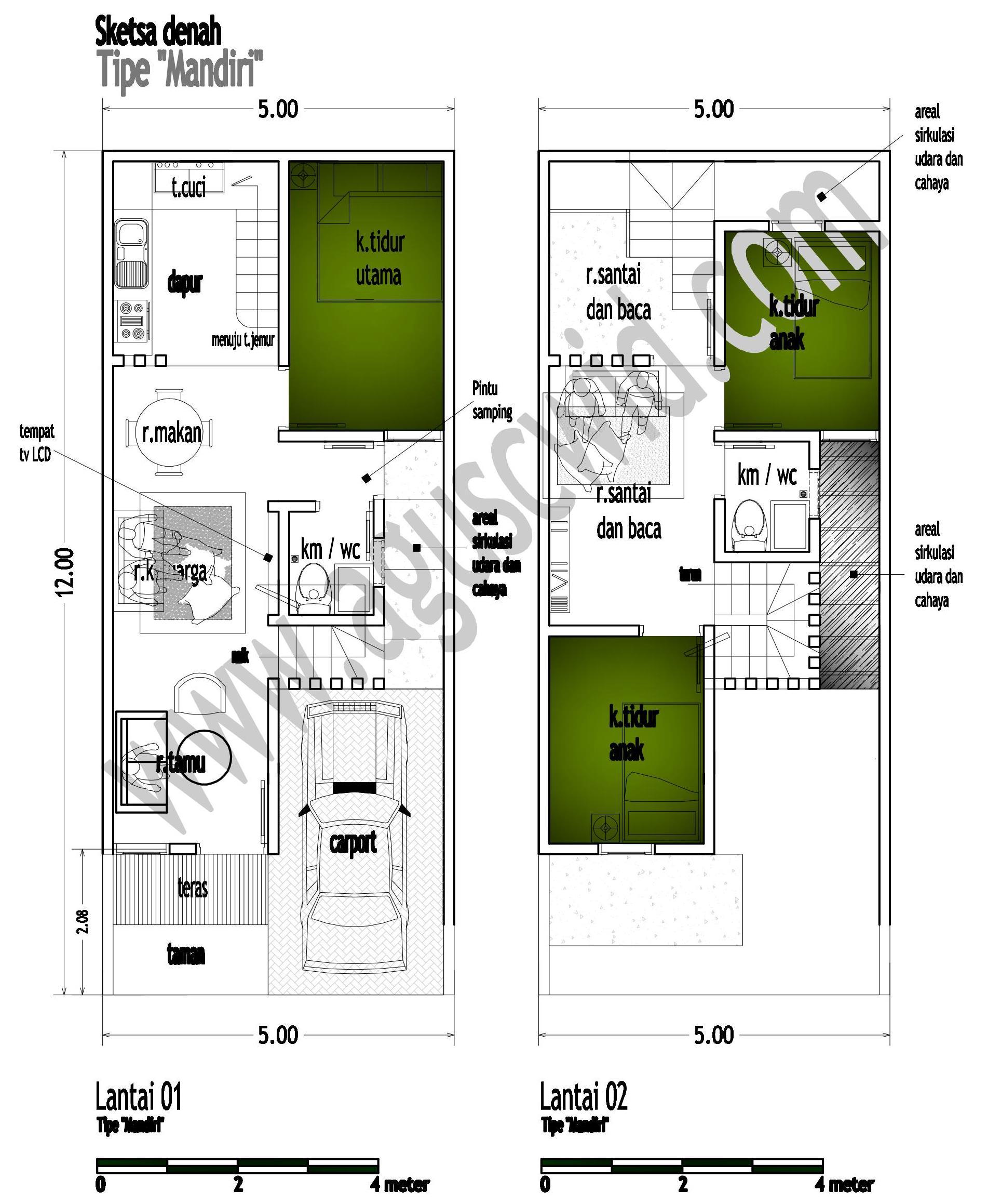 desain rumah minimalis 6 x 10 m