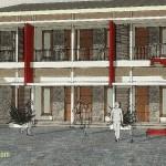 Update konsep 3D rumah kost tipe SYUKUR
