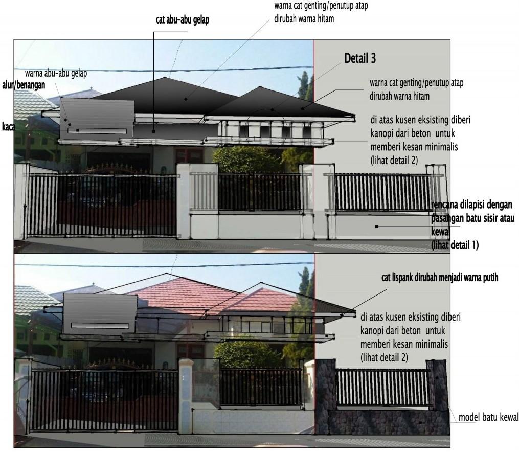 Asyiknya Corat Coret Tampak Rumah Renovasi Tampak Rumah