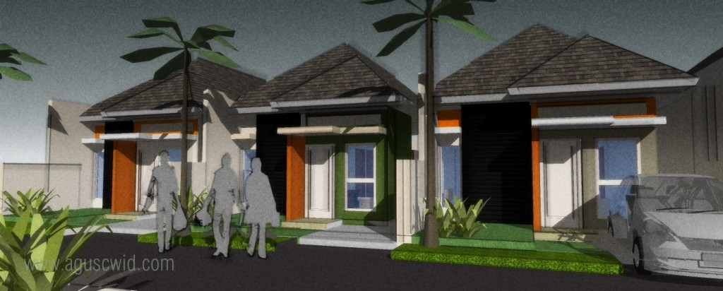 konsep pengembangan rumah sederhana tipe 30m2 tipe palm