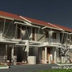Tampak Rumah Tropis Modern Tipe Sumber Bening