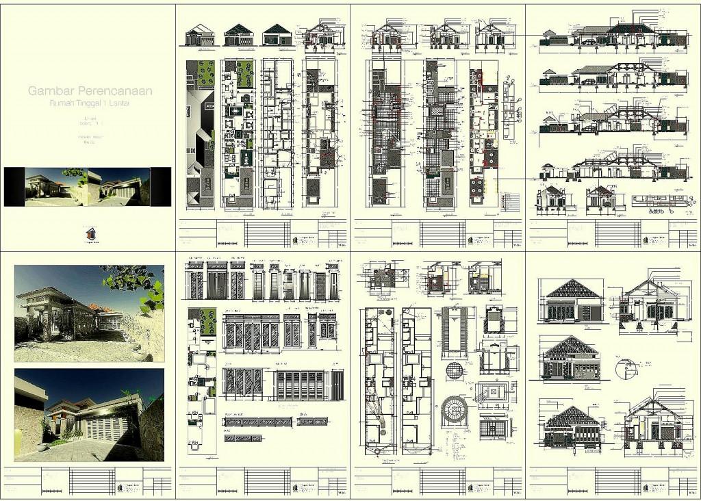 Contoh Model Perencanaan Rumah Tinggal 1 lantai by www.aguscwid.com