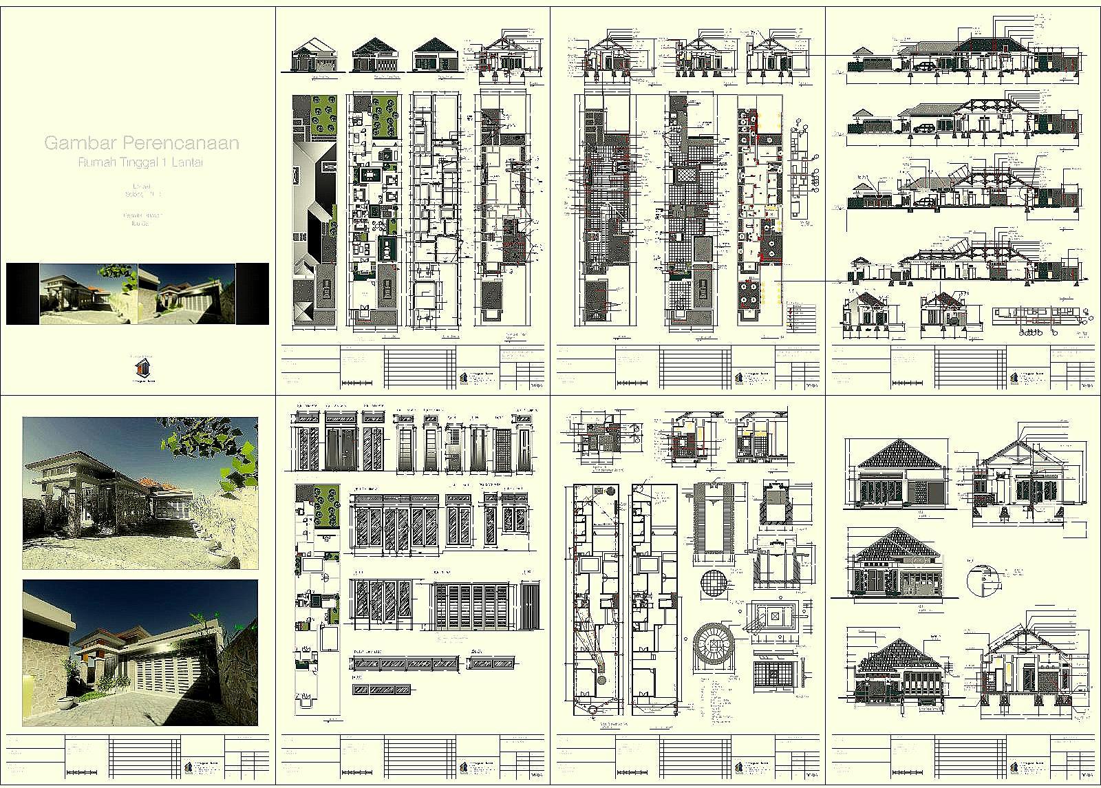 Contoh Sebuah Gambar Perencanaan Rumah Tinggal Aguscwid