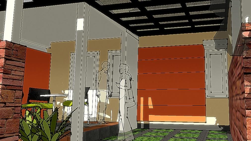 mengubah teras depan menjadi ruang tamu terbuka