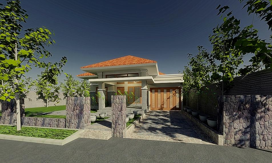 Project : Konsep tampak rumah tinggal. Bapak Handoko