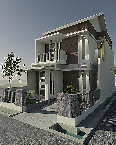 Project : Tampak tampak rumah tinggal. Pak Wali