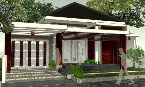 Rumah minimalis di lahan 11x24 m2