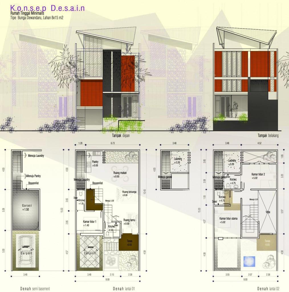 rumah minimalis 2 lantai basement | desain rumah minimalis