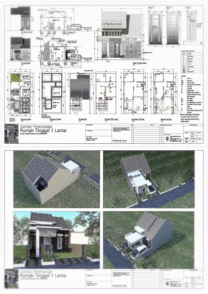 Gambar Rencana Rumah Tipe SONGGORITI