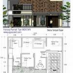 Konsep Rumah Tinggal Tipe MENTARI #12x8m2