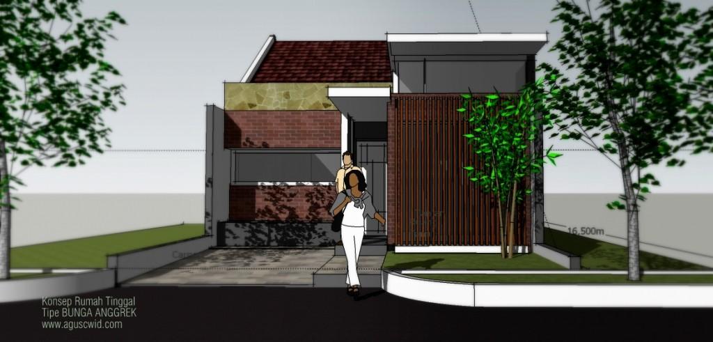 Konsep Denah Rumah Tipe BUNGA ANGGREK_Perspektif 03