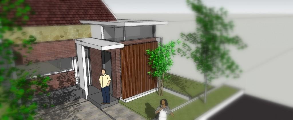 Konsep Denah Rumah Tipe BUNGA ANGGREK_Perspektif02