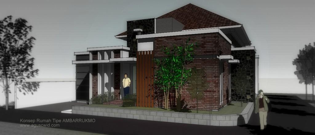 Konsep Perspektif Rumah Tipe AMBARRUKMO
