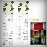 Desain rumah Bapak Andik Winarto di Lahan Lebar 5 meter