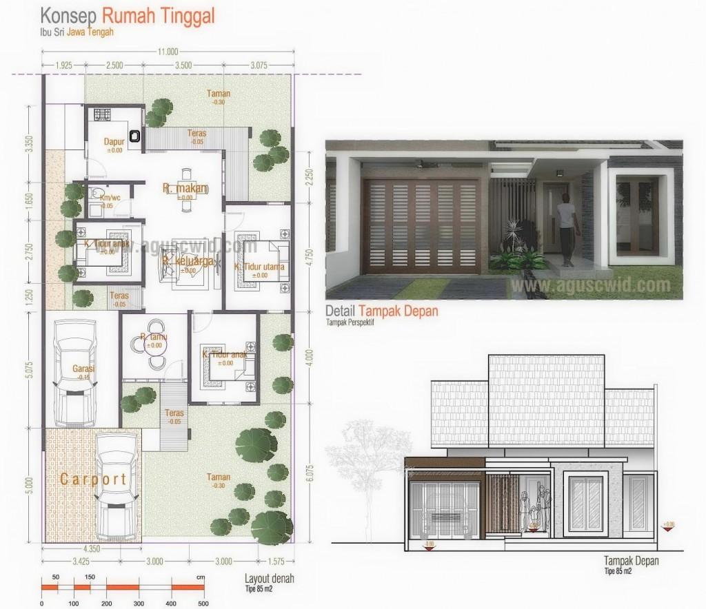 www.aguscwid.com - Desain Rumah Tinggal Minimalis