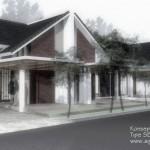 Desain Rumah Tipe SETIA_Perspektif01