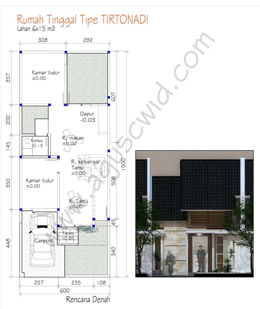 Konsep Denah Rumah Tipe TIRTONADI