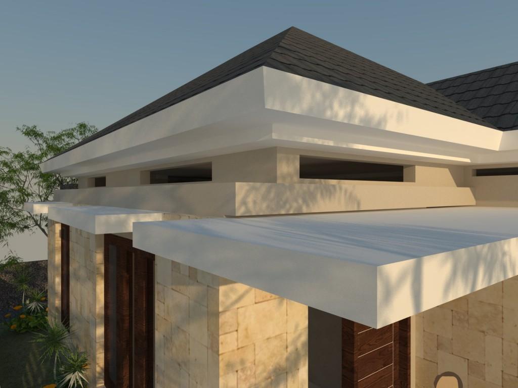 Model atap yang mundur