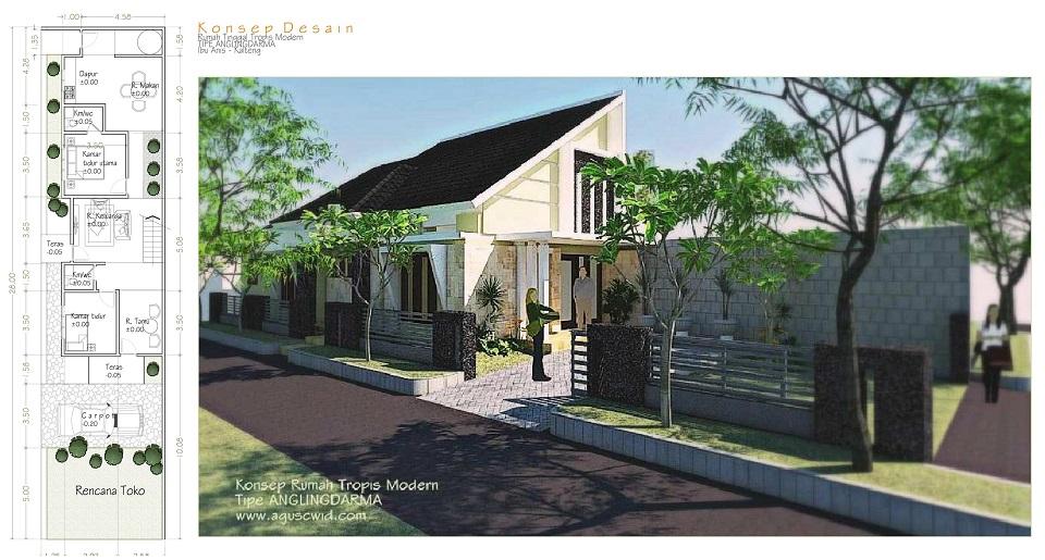 Posting_Konsep Desain Rumah Tipe ANGLINGDARMA_Ibu Anis