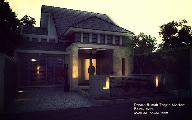 Desain Rumah Tropis Modern 2014