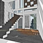 Konsep Tangga02_Rumah Ibu Indri