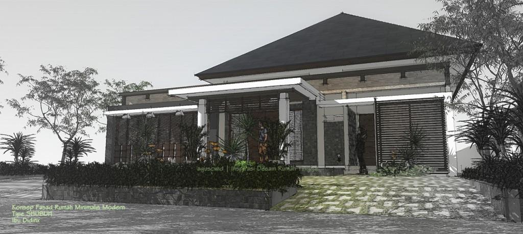 Konsep Fasad Rumah Minimalis Modern Tipe SHUBUH Ibu Didinx