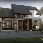 Alternatif pemberian kisi-kisi kayu pada teras