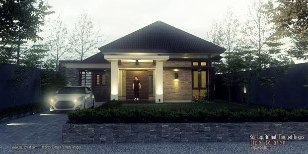 Perspektif Revisi Rumah Tinggal Tipe TELATEN_Bapak Suhadi_HEADER FB_620